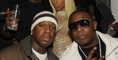 Birdman, Lil Wayne, Nicki Minaj and Mack Maine at TAO LV(2)